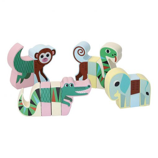 Vilac Drevené magnetické puzzle Zvieratká Jungle 1