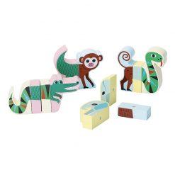 Vilac Drevené magnetické puzzle Zvieratká Jungle 2