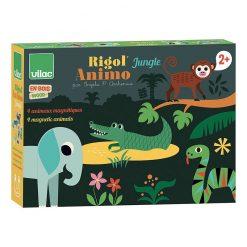 Vilac Drevené magnetické puzzle Zvieratká Jungle 4