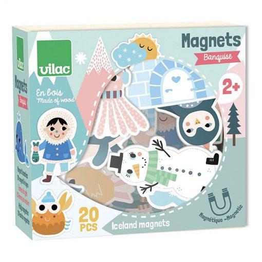Vilac Drevené magnetky Iceland 2