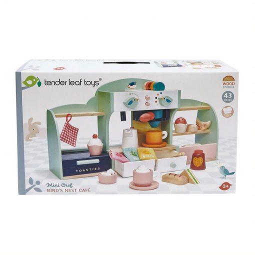 Tender Leaf Toys Drevená kaviareň Vtáčie hniezdo 6