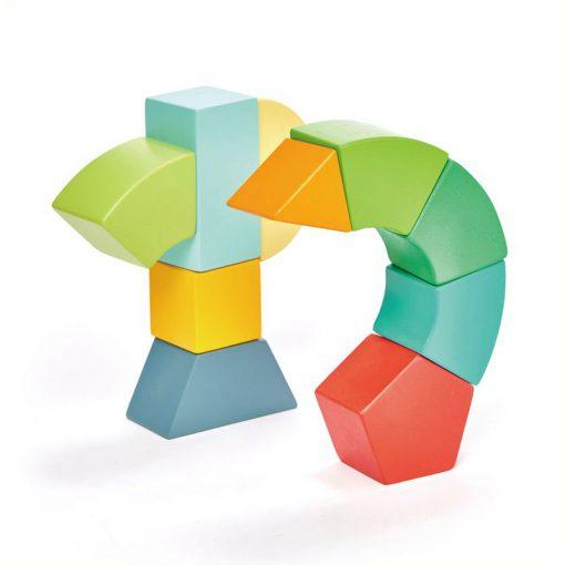 Tender Leaf Toys Drevená magnetická stavebnica Primary 1
