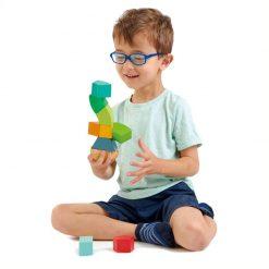 Tender Leaf Toys Drevená magnetická stavebnica Primary 2