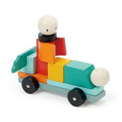 Tender Leaf Toys Drevená magnetická stavebnica Racing 1