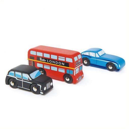 Tender Leaf Toys Drevené autá London 1