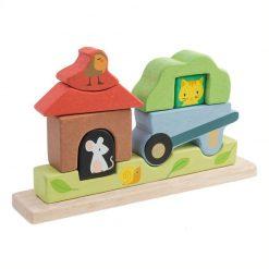 Tender Leaf Toys Drevené magnetické puzzle Záhrada 1