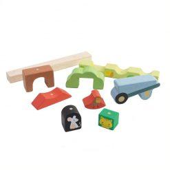 Tender Leaf Toys Drevené magnetické puzzle Záhrada 2