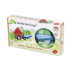 Tender Leaf Toys Drevené magnetické puzzle Záhrada 3
