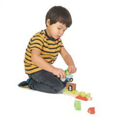 Tender Leaf Toys Drevené magnetické puzzle Záhrada 4
