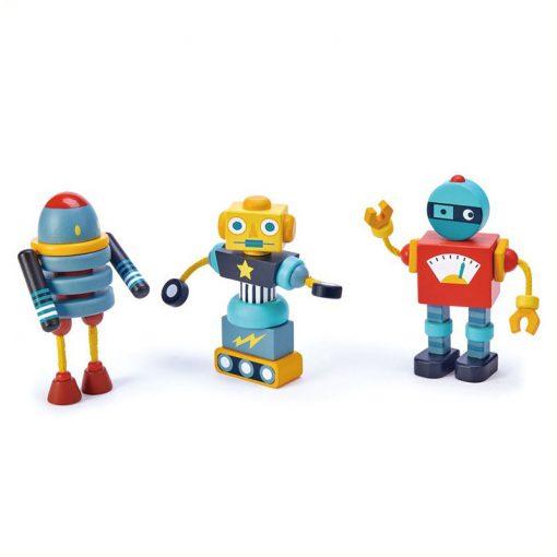 Tender Leaf Toys Drevené postavičky Roboty 1