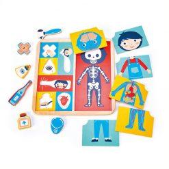 Tender Leaf Toys Drevené Drevené Puzzle Ľudské telo 2
