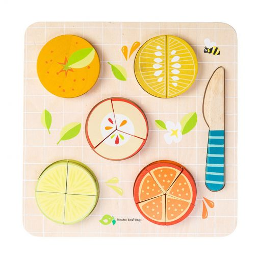 Tender Leaf Toys Drevené Puzzle Ovocie 1