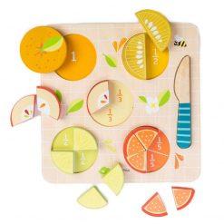 Tender Leaf Toys Drevené Drevené Puzzle Ovocie 2