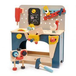Tender Leaf Toys Drevený pracovný pult s robotom 1