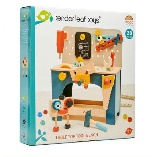 Tender Leaf Toys Drevený pracovný pult s robotom 2