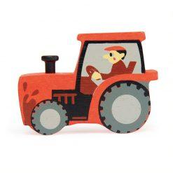 Tender Leaf Toys Zvieratká z farmy Traktor 1