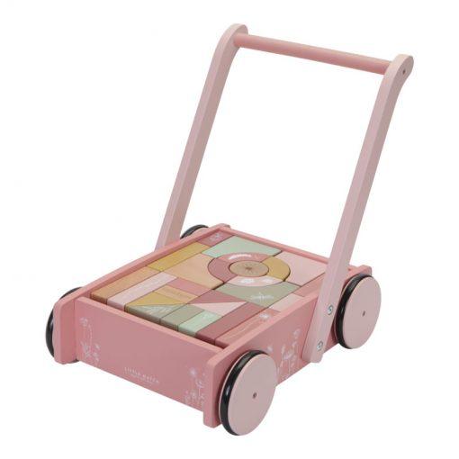Little Dutch Vozíček s kocami Pink Flowers 1