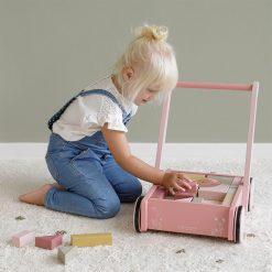 Little Dutch Vozíček s kocami Pink Flowers 4