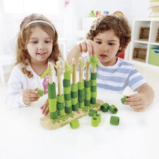 Hape Hra Quattro bambusová 2