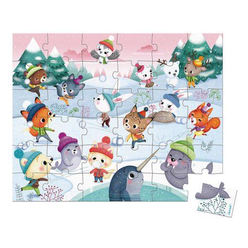Janod Puzzle Party na snehu 2