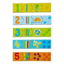 Haba Drevené puzzle na učenie čísel 1