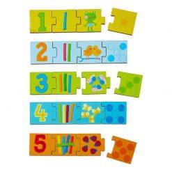 Haba Drevené puzzle na učenie čísel 2