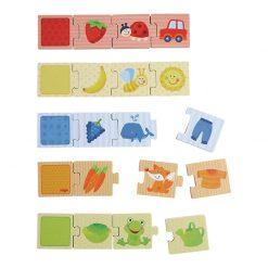 Haba Drevené puzzle na učenie farieb a priraďovanie 1