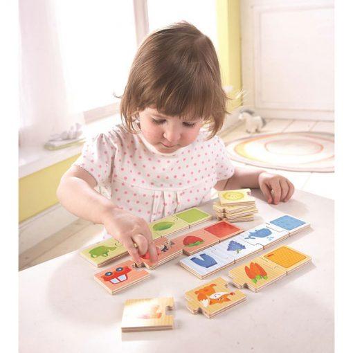 Haba Drevené puzzle na učenie farieb a priraďovanie 2