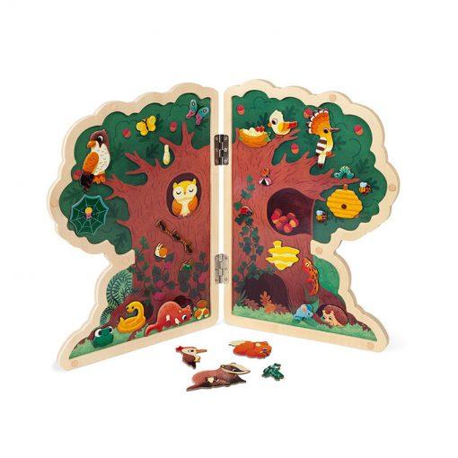 Janod Magnetická hračka strom Lesné zvieratká 1