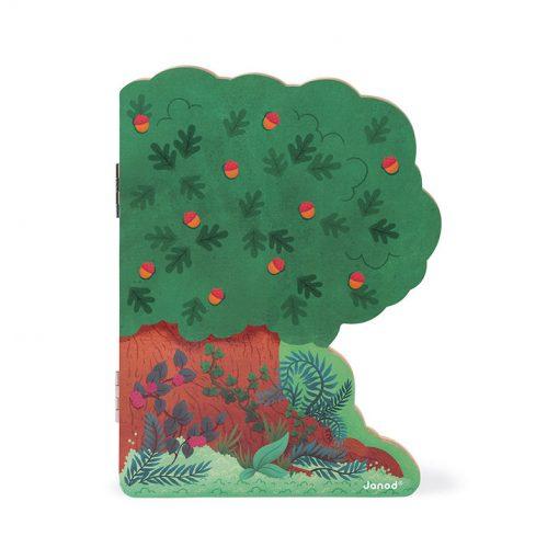 Janod Magnetická hračka strom Lesné zvieratká 2