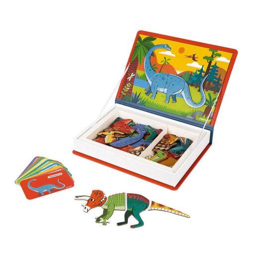 Janod Magnetická kniha Dinosauri 2