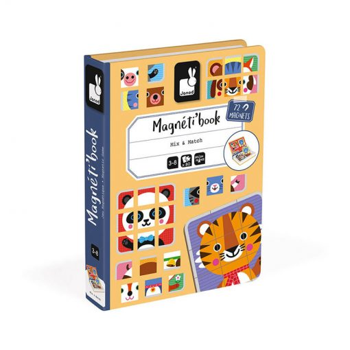 Janod Magnetická kniha Puzzle Zvieratá 1