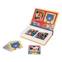 Janod Magnetická kniha Puzzle Zvieratá 2