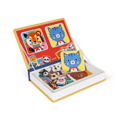 Janod Magnetická kniha Puzzle Zvieratá 3