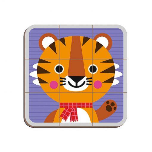 Janod Magnetická kniha Puzzle Zvieratá 4