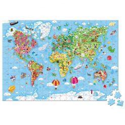 Janod Puzzle Mapa sveta v kufríku 2