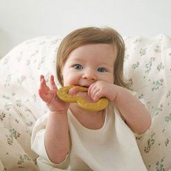 Bibs Baby Bitie hryzátko Heart Mustard 3