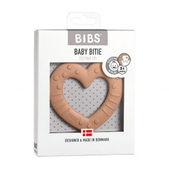 Bibs Baby Bitie hryzátko Heart Peach 1