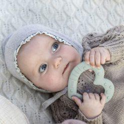 Bibs Baby Bitie hryzátko Heart Sage 3
