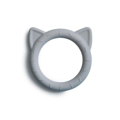 Mushie Silikónové hryzátko Cat Stone 1