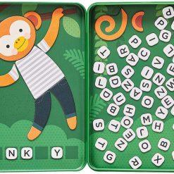 Petitcollage  Magnetická hra Počkaj opička 2