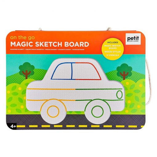 Petitcollage Magnetická kresliaca tabuľa Na cestách 1