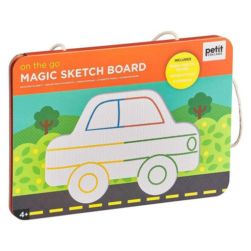 Petitcollage Magnetická kresliaca tabuľa Na cestách 3