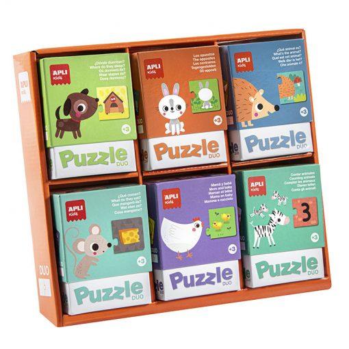 Apli Duo puzzle Čo jedia zvieratká 1