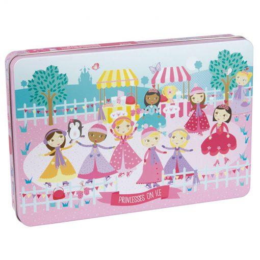 Apli Puzzle v kovovom boxe Princezné na ľade 1