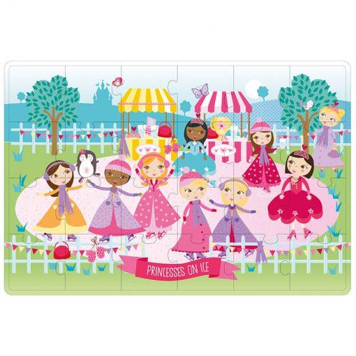 Apli Puzzle v kovovom boxe Princezné na ľade 2