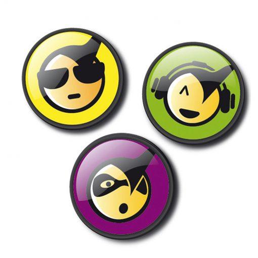 Nikidom Set odznakov Emoticons Cool 1