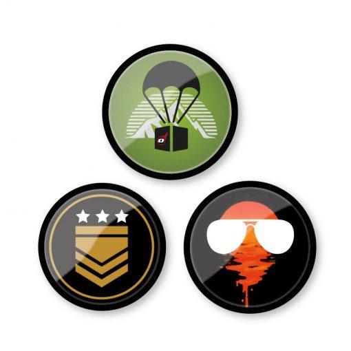 Nikidom Set odznakov Emoticons Gamer 1