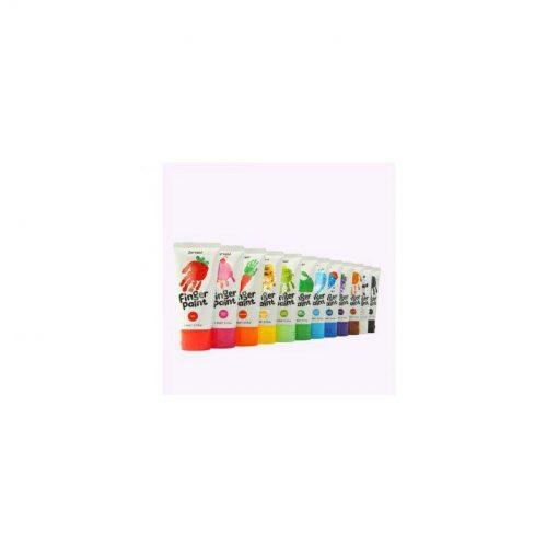 Jarmelo Prstové farby Sada 12 farieb 2