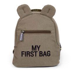 Childhome Detský batoh My first bag Canvas Khaki 1